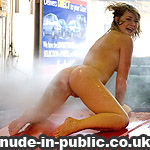 working naked in a car wash