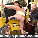 Sarah Jane masturbating in public