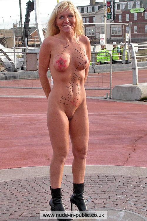 Family nudist on play